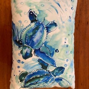 Turquoise Blue Sea Turtles Rectangular Pillows